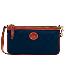 Dooney & Bourke New York Yankees Embossed Nylon Large Wristlet
