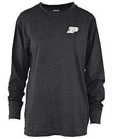 Royce Apparel Inc Women's Purdue Boilermakers Melange Long Sleeve T-Shirt