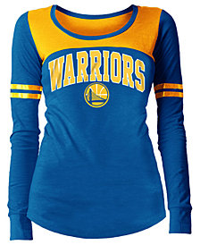 5th & Ocean Women's Golden State Warriors Slub Scoop Long Sleeve T-Shirt