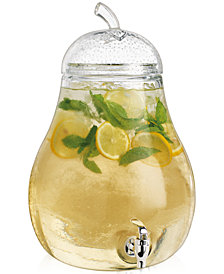 Home Essentials Pear-Shaped 2.4-Gallon Glass Beverage Dispenser