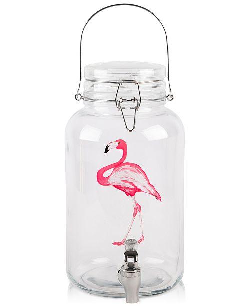 Home Essentials Flamingo Bail & Trigger 1-Gallon Glass Beverage Dispenser