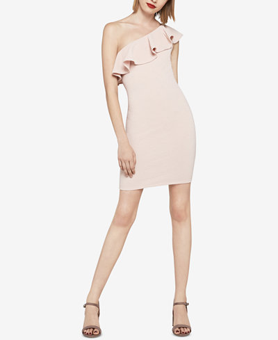BCBGeneration One-Shoulder Ruffle Bodycon Dress