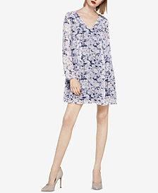 BCBGeneration Tie-Back Printed Chiffon Dress