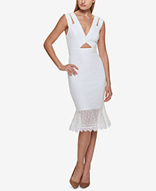 GUESS Lace Cutout Midi Dress