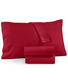 AQ Textiles York NuPercale 600 Thread Count 4-Pc. California King Sheet Set, Created For Macy's