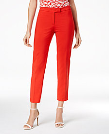 Anne Klein Crepe Bowie Slim-Fit Pants