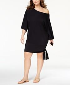 Michael Michael Kors Plus Size Side-Tie Cover-Up Dress