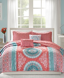 Intelligent Design Loretta 4-Pc. Twin/Twin XL Reversible Coverlet Set