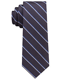 Michael Kors Men's Luxe Grenadine Stripe Slim Silk Tie