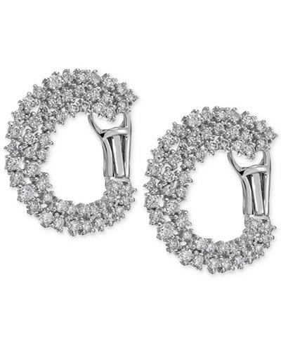 Diamond Cluster Hoop Earrings (1-5/8 ct. t.w.) in 14k White Gold