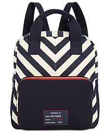 Tommy Hilfiger Bowers Chevron Canvas Backpack, Created for Macy's