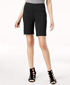 I.N.C. Curvy-Fit Stud-Trim Bermuda Shorts, Created for Macy's