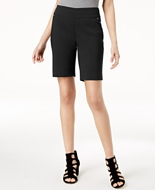 I.N.C. Curvy-Fit Stud-Trim Bermuda Shorts, Created for Macy's