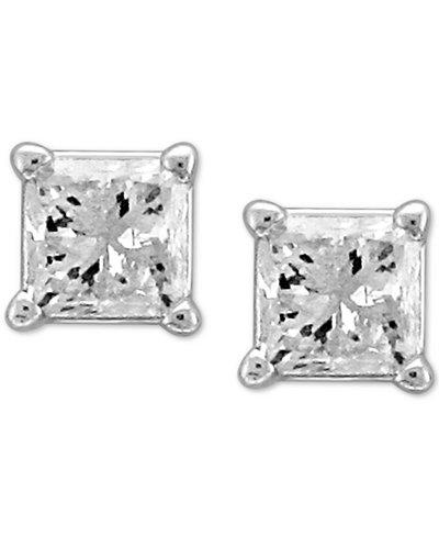 Diamond Princess Stud Earrings (1/3 ct. t.w.) in 14k White Gold