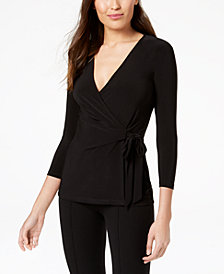 Anne Klein Faux-Wrap Top
