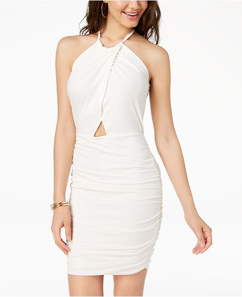 0fb0110158ab ... Material Girl Juniors  Cutout Ruched Bodycon Dress