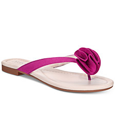 Alfani Women's Heathh Step 'N Flex Flip Flops, Created for Macy's