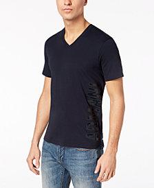 A|X Armani Exchange Men's V-Neck Vertical Logo T-Shirt