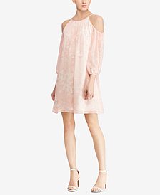 American Living Floral Lace Cold-Shoulder Dress