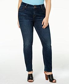 Lucky Brand Trendy Plus Size Cotton Emma Straight-Leg Jeans