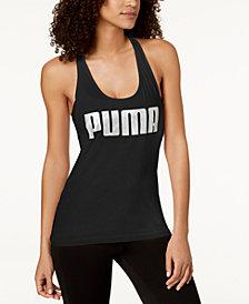 Puma dryCELL Metallic-Logo Racerback Tank Top