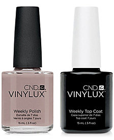 Creative Nail Design Vinylux Svelte Suede Nail Polish & Top Coat (Two Items), 0.5-oz., from PUREBEAUTY Salon & Spa