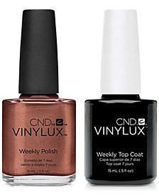 Creative Nail Design Vinylux Leather Satchel Nail Polish & Top Coat (Two Items), 0.5-oz., from PUREBEAUTY Salon & Spa