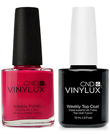 Creative Nail Design Vinylux Pink Leggings Nail Polish & Top Coat (Two Items), 0.5-oz., from PUREBEAUTY Salon & Spa