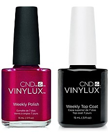 Creative Nail Design Vinylux Tartan Punk Nail Polish & Top Coat (Two Items), 0.5-oz., from PUREBEAUTY Salon & Spa