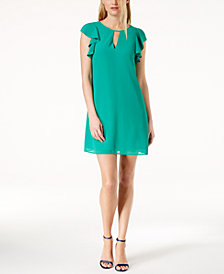 Vince Camuto Ruffle Sleeve Shift Dress