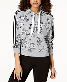 Calvin Klein Performance Rose Spray Printed Cropped Hoodie