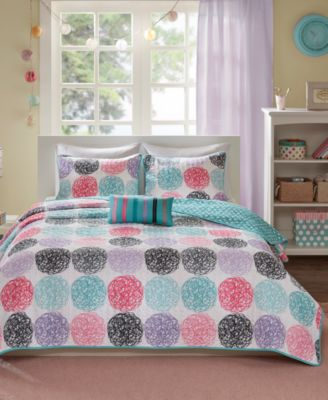 Carly 3-Pc. Twin/Twin XL Reversible Coverlet Set