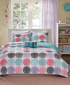 Mi Zone Carly 4-Pc. Full/Queen Reversible Coverlet Set