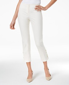 Alfani Petite Lace-Up Capri Pants, Created for Macy's