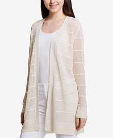 Calvin Klein Striped Illusion Open-Front Cardigan