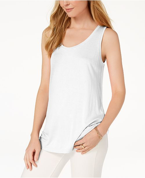 Maison Jules Scoop-Neck Tank Top, Created for Macy's