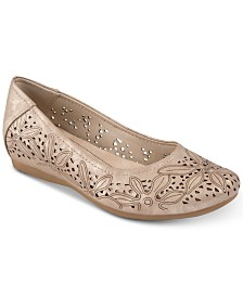 Baretraps Mariah Perforated Memory Foam Hidden Wedge Flats