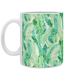 Amy Sia Fern Palm Green Coffee Mug