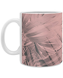 Deny Designs Emanuela Carratoni Blush Palm Leaves Coffee Mug