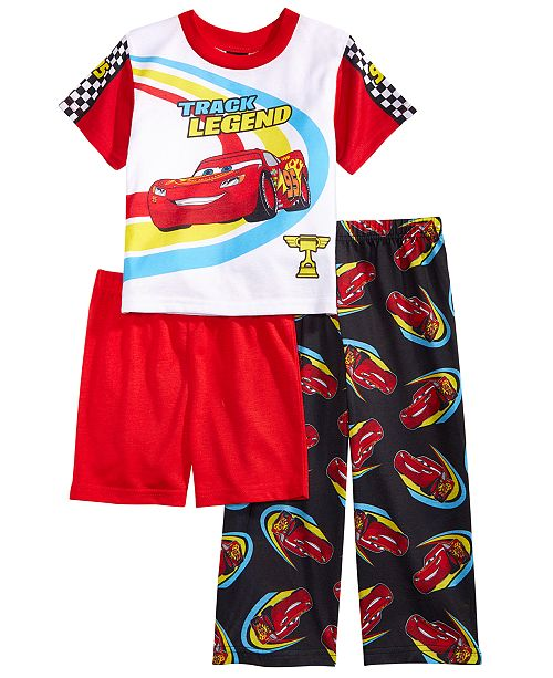 8b99d91931272 Disney Cars 3-Pc. Lightning McQueen Pajama Set, Toddler Boys ...