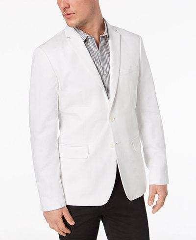 Calvin Klein Men's Classic-Fit White Linen Sport Coat