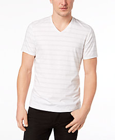 I.N.C. Men's Stretch V-Neck Striped T-Shirt, Created for Macy's