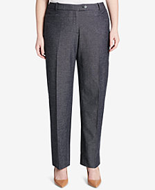 Calvin Klein Plus Size Patterned Straight-Leg Pants