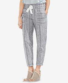 Vince Camuto Striped Drawstring Pants