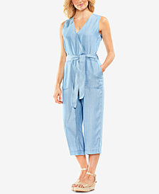 Vince Camuto Wrap-Front Cropped Jumpsuit