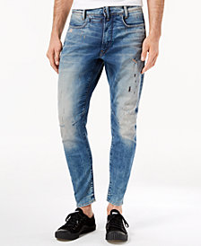 G-Star RAW Men's D-Staq 3D Super-Slim Fit Stretch Destructed Jeans, Created for Macy's