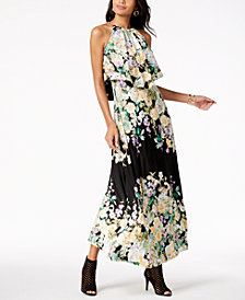 Thalia Sodi Printed Popover Maxi Dress, Created for Macy's