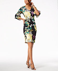 Thalia Sodi Floral-Print Bell-Sleeve Dress, Created for Macy's