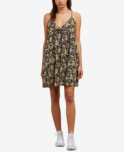 Volcom Juniors' You Want This Strappy Printed Dress