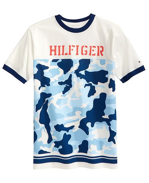 ae63ed9a Tommy Hilfiger Camo Cotton T-Shirt, Big Boys & Reviews - Shirts ...